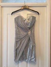 Lipsy London silver dress