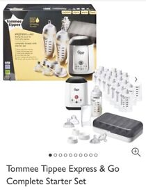 Lansinoh 2 in 1 breast pump & tommee tippee express and go kit with pouch and bottle warmer