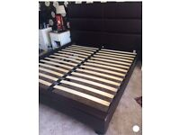 Super king faux leather bed and memory foam dreams mattress