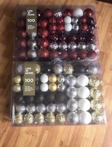 100 piece christmas ornaments