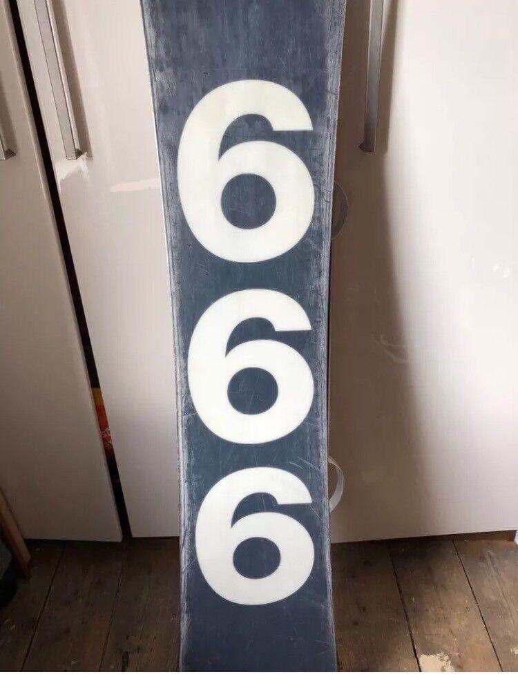 Forum Rat Snowboard 158 With Union Bindings 666 Detail In Ashton