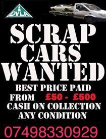Cash paid for cars, batteries, alloys, cat converters, non ferrous