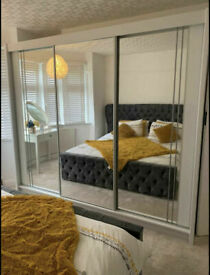 💯 MUST SALE CLEARENCE 2 AND 3 DOORS SLIDING WARDROBES WITH FULL MIRRORS, SHELVES, RAILS