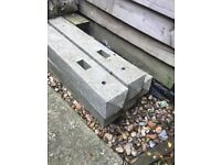 5 concrete posts 177cm tall, brand new, need gone asap