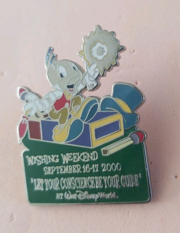 Jiminy Cricket Matchbook pin Wishing Weekend WDCC Event Disney World 2000 HTF