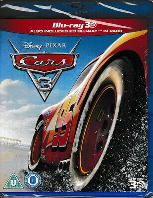 Cars 3 - 3D Blu Ray + blu ray - Brand New & Sealed