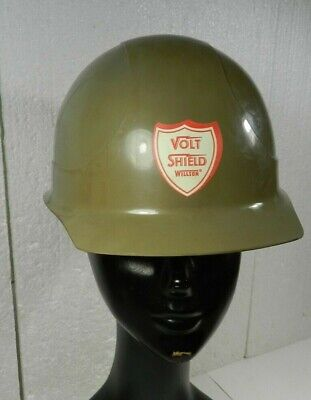 Vtg Willson Hard Hat Insulating Safety Cap Volt Shield 22 Stc Helmet Plastic