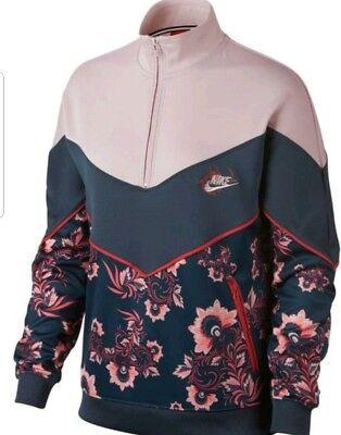 917809-013 Nike Sportswear NSW Windrunner Full Zip Jacket Grey Red Black SZ