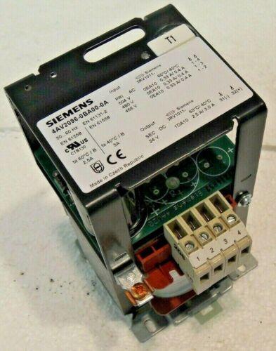 Siemens 4AV2096-0BA00-0A Power Supply Transformer 480 v in 24 v DC out