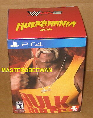 WWE 2K15 Hulkamania Edition PlayStation 4 PS4 New & Sealed (Read Description) for sale  Shipping to India