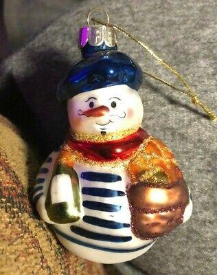 World Market Glass International Snowmen Christmas Ornament 2010 French ()