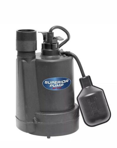 Superior Pump 92250 1/4-Horsepower Thermoplastic Sump Pump w