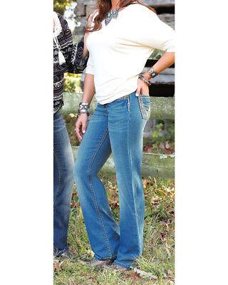 NEW Ladies WRANGLER SHILOH Stretch AQHA! COWGIRL BOOT CUT WRS40KT BLUE JEAN $66