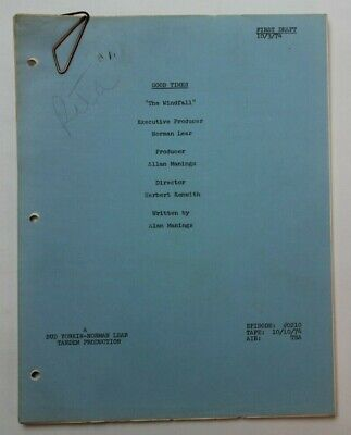 GOOD TIMES / Allan Manings, 1974 TV Show Script