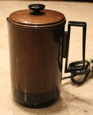 Vintage Empire Brown Travel Electric Hot Water Pot 1670-25 Heats Up Fast! Hot Pot Electric Travel