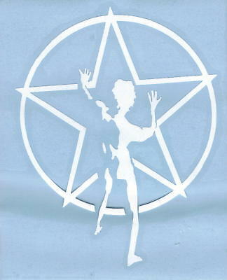 RUSH STARMAN PEEL AND RUB ON WHITE VINYL DECAL !