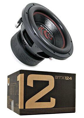 "Massive Audio GTX124 1400 W Max 12"" Dual Voice Coil 4 Ohm Car Audio Subwoofer"