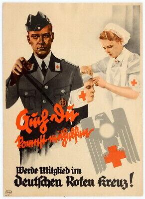 German Propaganda German Red Cross poster world war 2 WW2  - German Ww2 Propaganda Posters