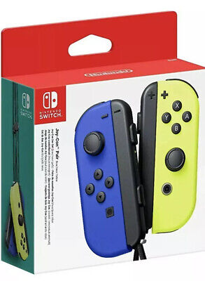 NEW! Nintendo Joy-Con (L/R) Wireless Controller for Switch - Blue/Neon Yellow