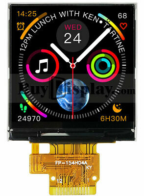 1.54 Inch Color Tft Lcd Display Ips Panel Screen 240x240 For Smart Watch