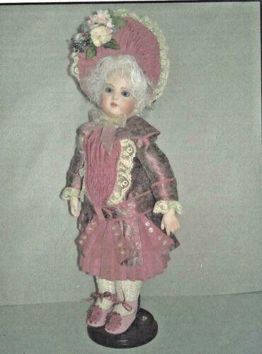 "12""ANTIQUE FRENCH BRU BREVETE MILETTE DOLL@1860 JACKET DRESS BONNET PATTERN"