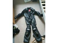 1 piece motorcycle motorbike leathers
