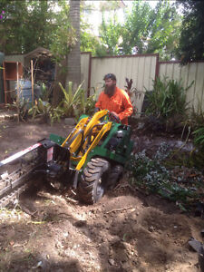 Griffos Dingo Mini Digger Turf Prep and Lay Trenches Post Hole Kingston Logan Area Preview