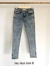 Jay Jays grunge skinny jeans with ankle zips size 8 Berwick Casey Area Preview