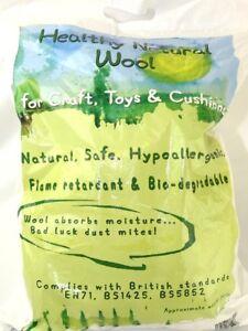 Natural Wool Toy Stuffing Filling Kapok 250 gram  White (TFW021)