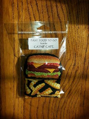 Catnip Toys~FAST Food~ORGANIC CATNIP!!!   Really Cute!