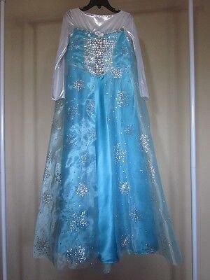 Halloween Costume for Girl Elsa (Frozen movie) dress Size 7-8 years SLIM - Elsa For Halloween