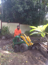 Gary's Dingo Hire Mini Digger Mini Bobcat Ditch Witch Trencher Kingston Logan Area Preview