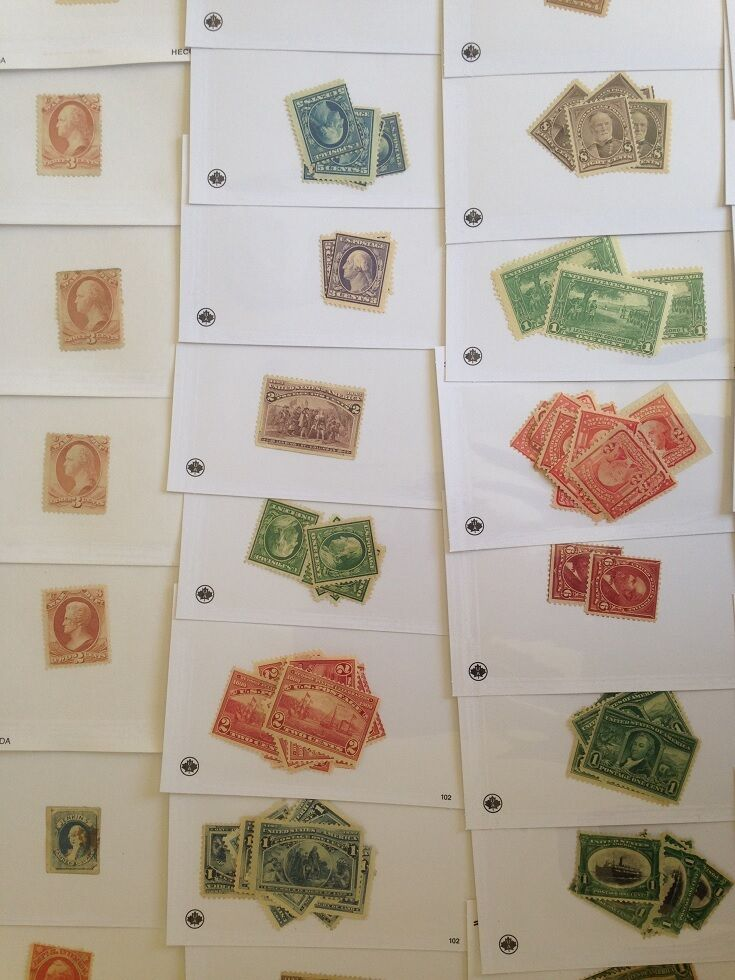 OLD US Stamp Collection Dealer Stock 1850's-1970's ☆ $65+ CV Early US Stamps! ☆