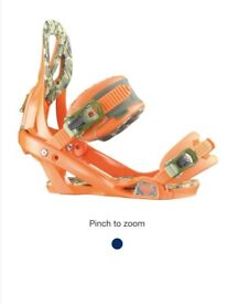 Brand New Boxed Salomon Bindings Mid flex and Medium size Orange and Camo RRP £150
