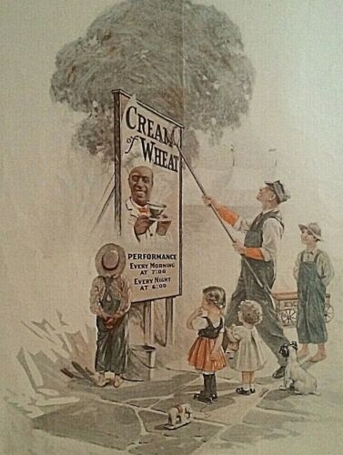 "April 1916 ""Cream Of Wheat"" Advertisement 10""x13"" Circus Day Vintage C.O.W. Logo"