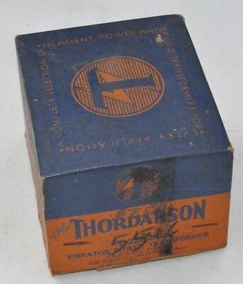 Nos Thordarson Vibrator Power Transformer T22r20 New In Box Antique Radio Amp