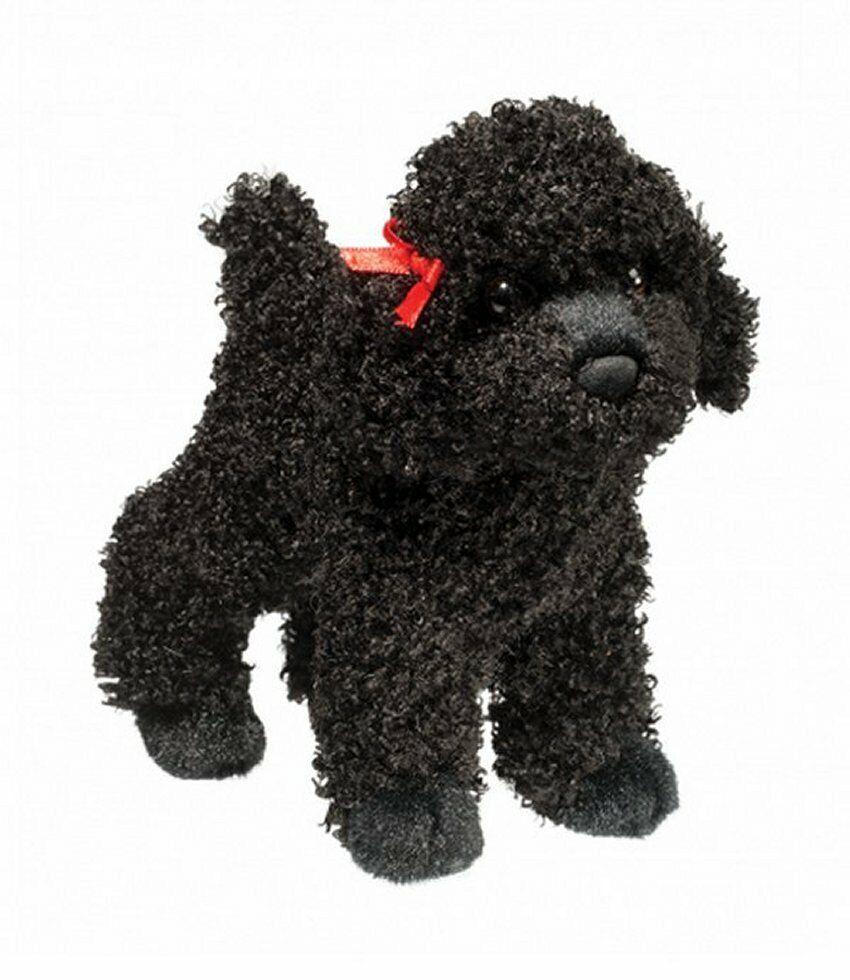 """Douglas Gigi BLACK POODLE 8"""" Plush Dog Stuffed Animal Cuddle"""