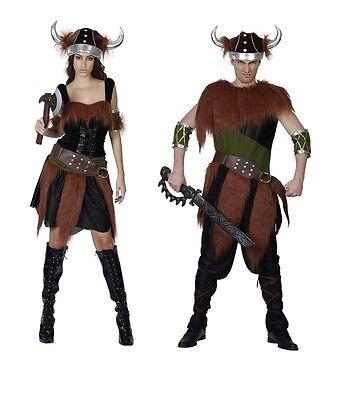 # Wikinger Kostüm Erwachsene Nordic Krieger Einheitsgröße Komplette Outfits