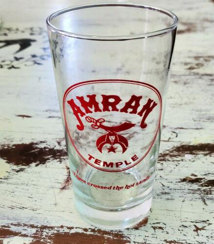 "MINT Amran Temple Shriners Raleigh North Carolina 5.5"" Drinking Glass"