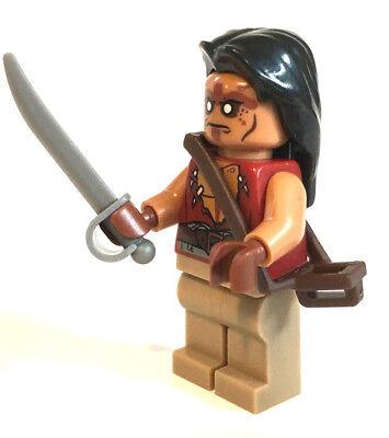 LEGO Fluch der Karibik Figur Yeoman Zombie mit Degen Sebel Schwert Waffe