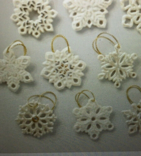 Lenox   SNOWFLAKE SET  10 Piece Miniature Ornaments NEW in box Christmas