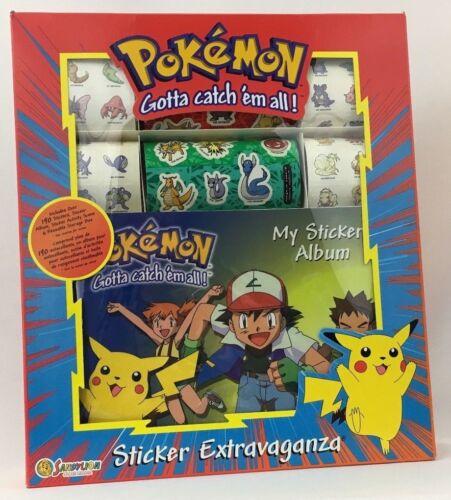 NEW!-FACTORY SEALED  Vintage 1999 Sandylion Pokemon Sticker Extravaganza
