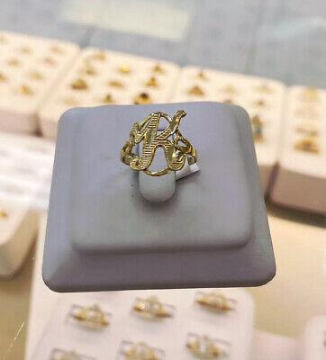 10k Gold Women Initial Ring  -