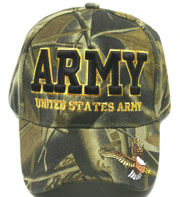 ARMY VETERAN Cap/Hat w/ Eagle 3D Embroidery Camoflauge Military*FREE SHIPPING