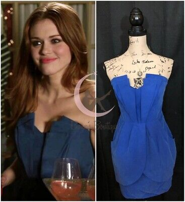 ASO Lydia Martin Guess Blue Strapless Dress Sz 6, 8 Teen Wolf