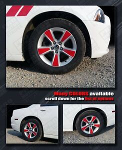 Dodge Charger Wheel Insert Stripes 2011 2012 2013 2014 Rims Decals Pro Motor