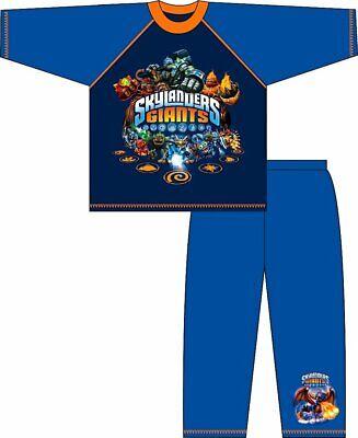 Skylanders Giants Jungen Langärmelig Schlafanzüge Blau und Orange Alter 4 5 6 7 (Skylanders Jungen Und)