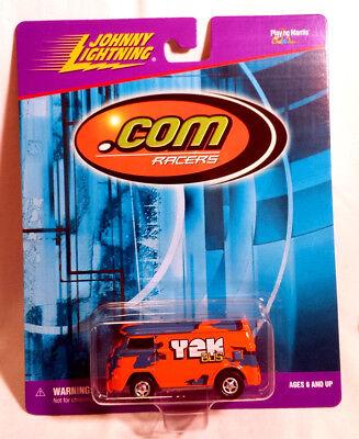 Johnny Lightning  Com Racers Volkswagen Y2k Vw Bus Orange W Slot Style Rr Wheels