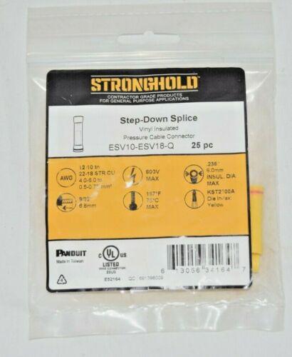 25 Stronghold ESV10-ESV18-Q Vinyl Step-Down Splices Pressure Cable Connectors