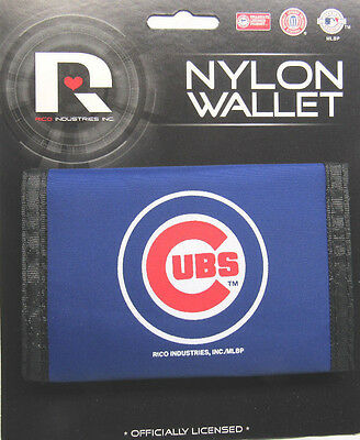 Chicago Cubs Tri Fold Wallet - MLB Chicago Cubs Printed Tri-Fold Nylon Wallet by Rico Industries